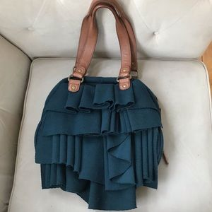 Anthropologie Miss Allbright Ruffle Bag